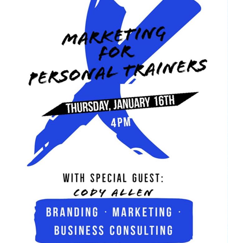 Cody Allen marketing for trainers seminar