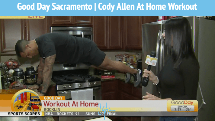 Good Day Sac Cody Allen at home workout