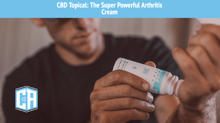 Man applying CBD to wrist