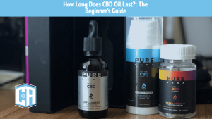 Three different CBD products