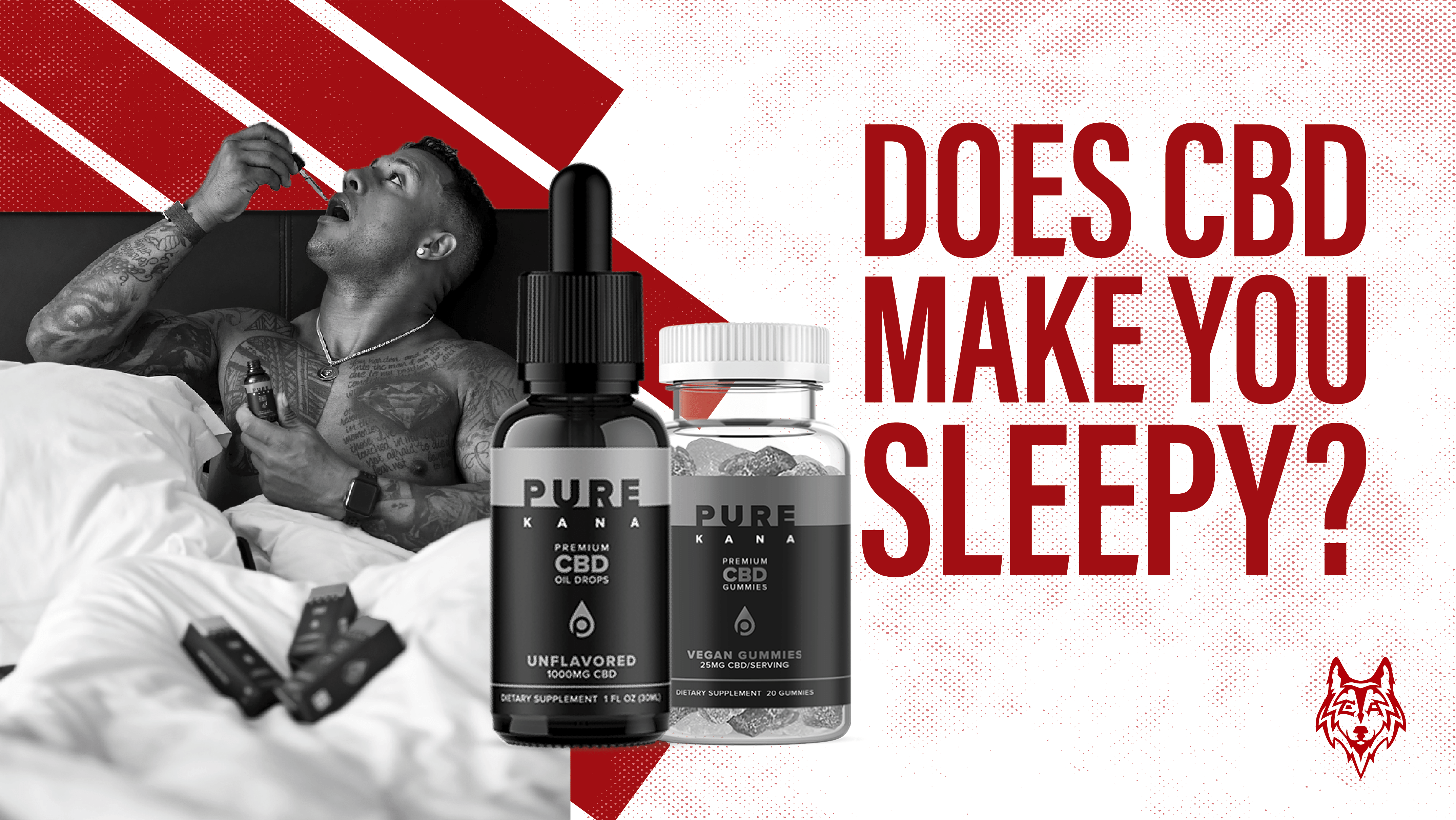man in bed with cbd tincture