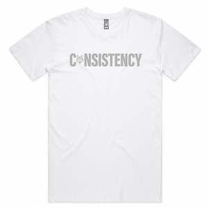 White lay flat consistency shirt