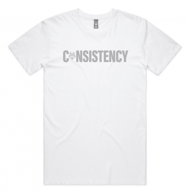 White lay flat consistency shirt