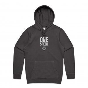 Black one speed hoodie