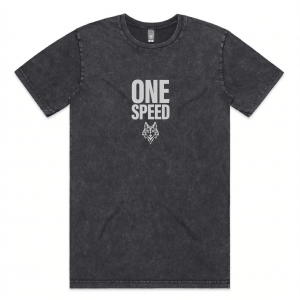 Black one speed tee