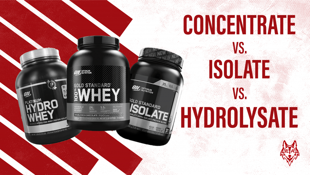 Concentrate vs isolate vs hydrolysate