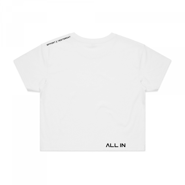 White greater than crop back